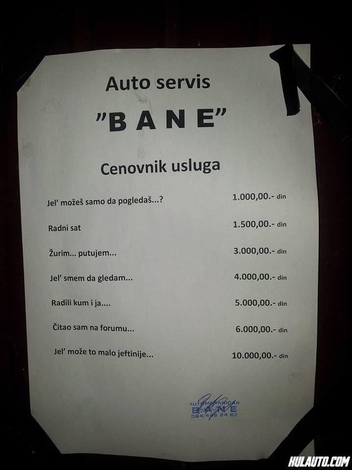 Banetov cenovnik :)