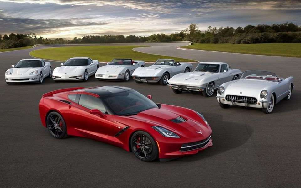 Sve generacije Corvette
