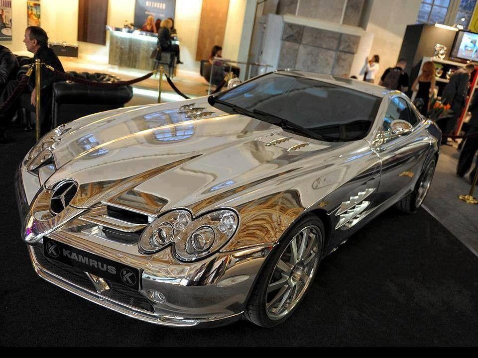 Mercedes od belog zlata<br /><br />Vlasnik je Milijarder iz Abu-Dabija, za izradu ovog automobila korisćeno je osamnaestokaratno belo zlato.Ovaj automobil pored toga radi na Biogorivu i ubrzava od 0-100km/h za samo 3 sekunde