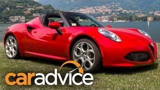 2016 Alfa Romeo 4C Spider Review : Lake Como, Italy