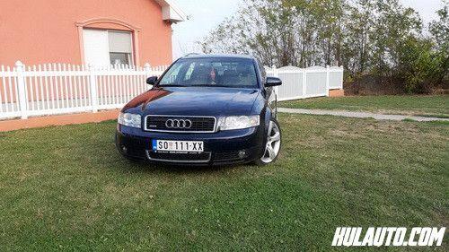 Audi A4 2.5 TDI-S line 2003. godište Na prodaju A4 2003 godiste.Auto je u odlicnom stanju, S line oprema, 4x4 Qwatro, 2.5 TDI.Auto poseduje webasto grejanje na daljinski, grejace sedista, prednje i zadnje parking senzore i jos dosta opreme.Pre 30000 km uradjen veliki servis i servis menjaca, pre 8000 km uradjen mali servis sa zamenom komplet svih filtera.Nedavno takodje zamenjeni novi diskovi, crevo interkulera i lezajevi u tockovima.Auto redovno odrzavan, registrovan do 06.2019.Auto je bez potrebnih ulaganja i bez skrivenih mana.Moguca svaka provera tehnicke ispravnosti i originalnisti kilometraze (220.000 km).Auto je 2003 godiste.CENA 2950e!Moguca zamena za manji auto uz doplatu.Tel 0642587639