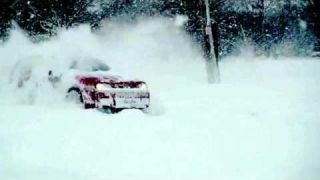 VW Golf R32 Mk4 | Snow drift for fun | VW Golf snow drift