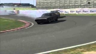 1970 Dodge Charger R/T Drifting Video Game Race