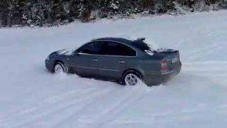 vw passat snow
