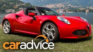 2016 Alfa Romeo 4C Spider Review : Lake Como, Italy