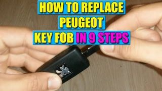 How to replace Peugeot key fob or key case in 9 steps!
